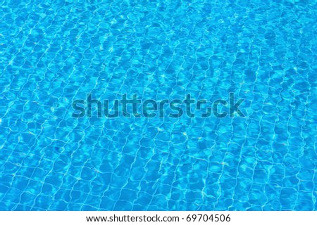 Perfect background - clear, pure and transparent water in swimming pool
