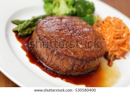Perfect beef steak