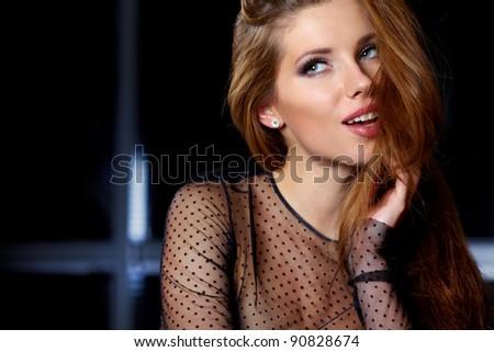 Perfect brunette women - stock photo