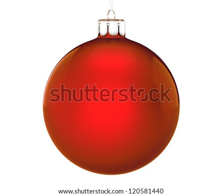 Perfect christmas ball on white background - stock photo