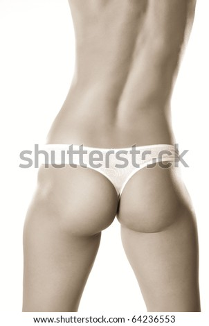 perfect feminine body - stock photo