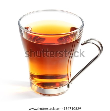Perfect glass of tea with clipping path