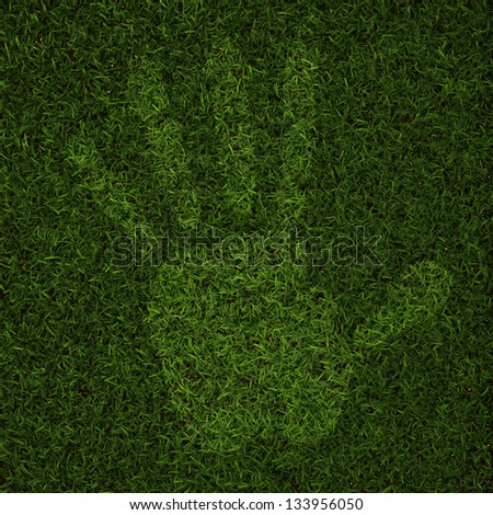 Perfect Grass in  3D - stock photo