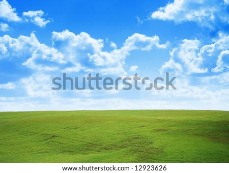 perfect green field