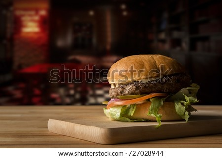 Perfect hamburger classic burger american cheeseburger with cheese bacon tomato and lettuce