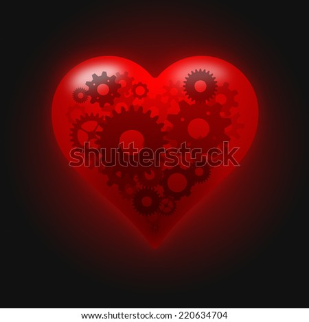 Perfect heart concept  - stock photo
