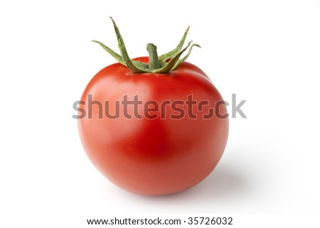 Perfect Isolated Tomato - stock photo