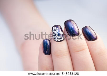 Perfect manicure natural nails attractive modern stock photo perfect manicure and natural nails attractive modern nail art design gel polish applied prinsesfo Choice Image