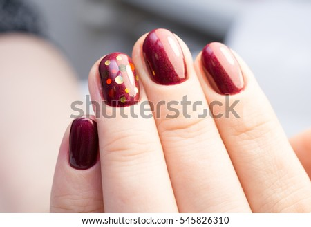 Perfect Manicure Natural Nails Attractive Modern Stock Photo ...