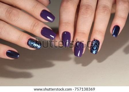 Perfect manicure natural nails attractive modern stock photo perfect manicure and natural nails attractive modern nail art design gel polish applied prinsesfo Images