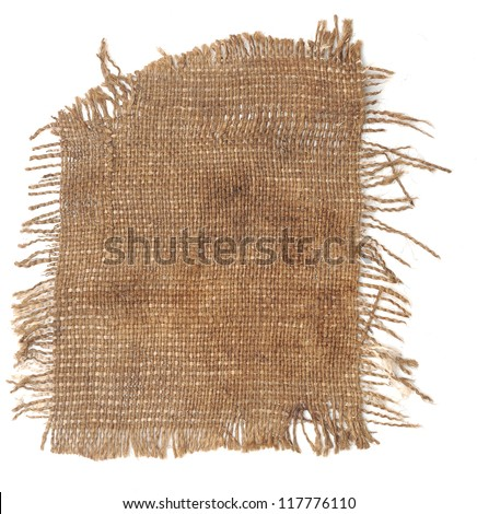 Perfect old cloth sack isolated on white background - stock photo