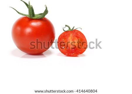 perfect ripe red tomato and copy space #2 - stock photo