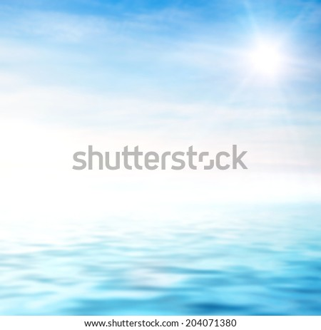 perfect sky and water - stock photo
