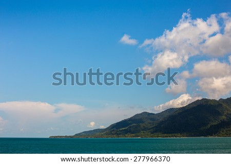 perfect sky and water of ocean or sea summer concept.