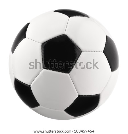 Perfect Soccer ball or football, clean, bright studio isolation - stock photo
