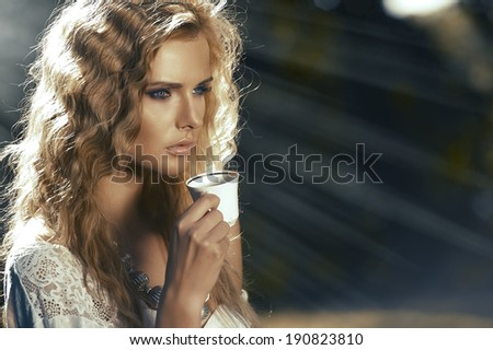 Perfect young blonde posing  - stock photo