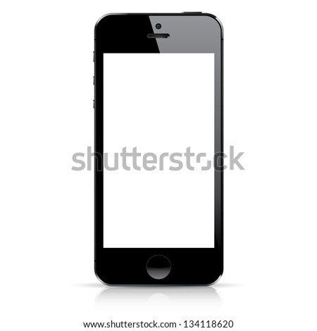 Perfectly detailed modern smartphone isolation hires - stock photo