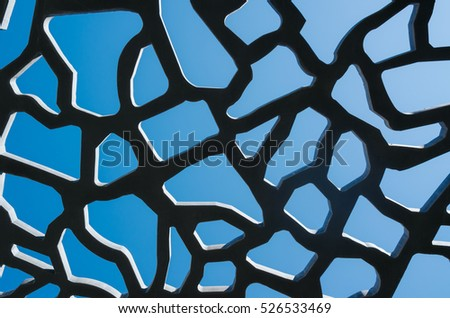 stock-photo-perforated-concrete-on-sky-b