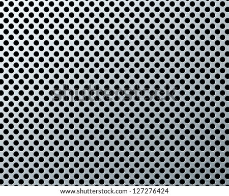 perforated metal background - stock photo