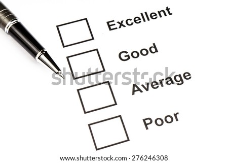 Performance Checklist - stock photo