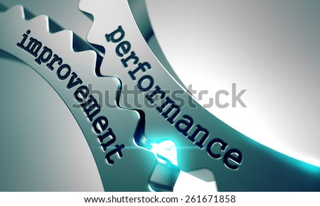 Performance Improvement on the Mechanism of Metal Gears. - stock photo