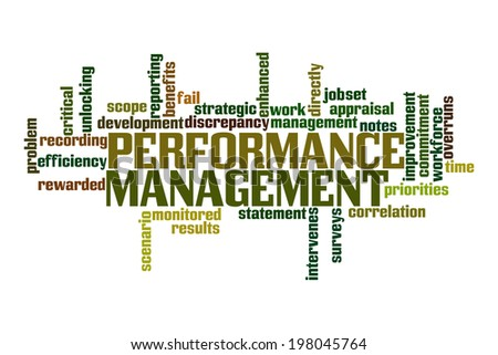 Performance Management Word Cloud - stock photo