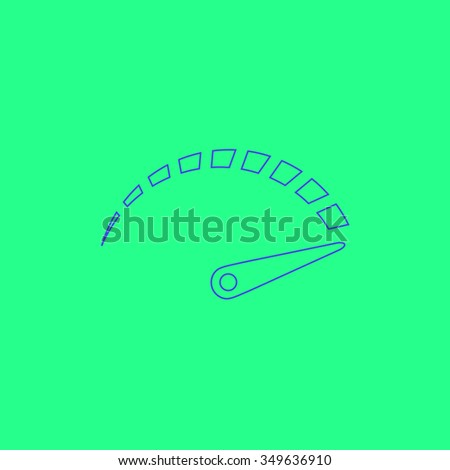 Performance measurement. Simple outline illustration icon on green background