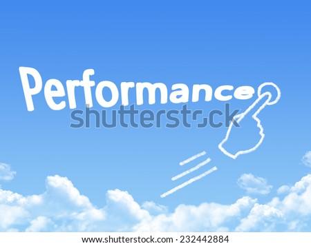 performance message cloud shape  - stock photo