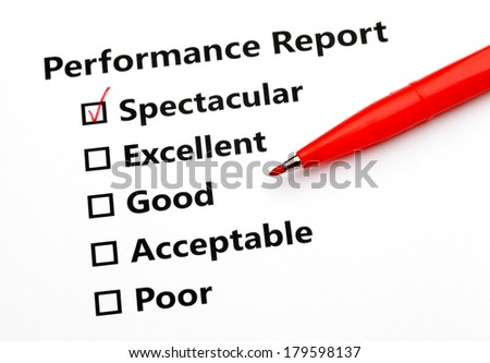 Performance report and pen