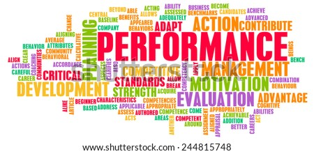Performance Review and Discussion as a Concept - stock photo