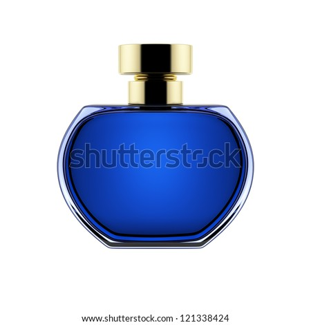 perfume bottle isolated over a white background. - stock photo