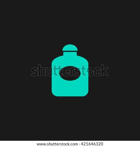 perfume Flat icon on black background. Simple symbol - stock photo