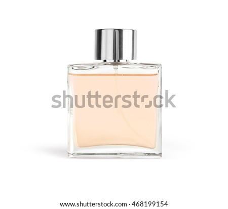 Perfume in beautiful bottle isolated on white with clipping path