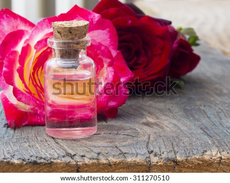Perfumed Rose Water - stock photo