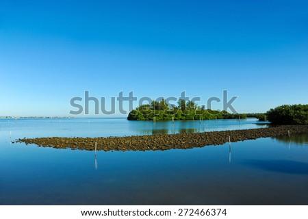 Perico Bayou located on the west coast of Florida between Bradenton and Anna Maria Island  - stock photo
