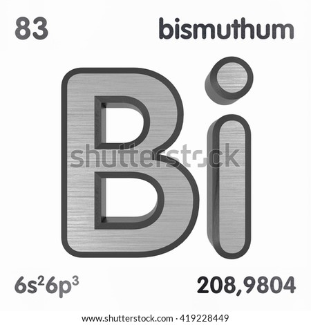 Periodic table elements bismuth 3 d title stock illustration periodic table of elements bismuth 3d title isolated on white 3d rendering urtaz Gallery