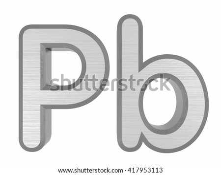 Periodic Table Elements Lead 3 D Title Stock Illustration 417953113