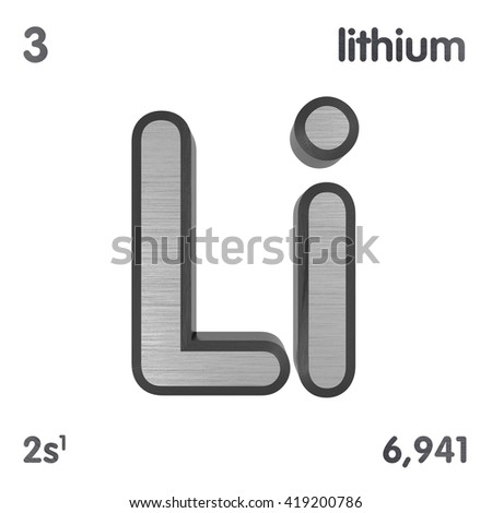 Periodic table elements lithium 3d title stock illustration periodic table of elements lithium 3d title isolated on white 3d rendering urtaz Images