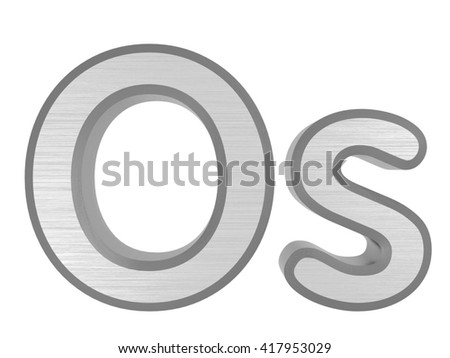 Periodic table elements osmium 3d title stock illustration periodic table of elements osmium 3d title isolated on white 3d rendering urtaz Images