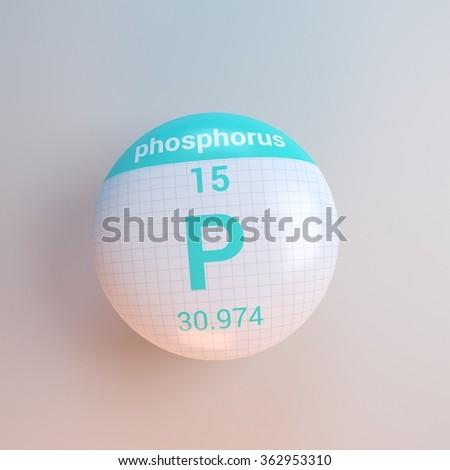 periodic table of elements phosphorus - stock photo