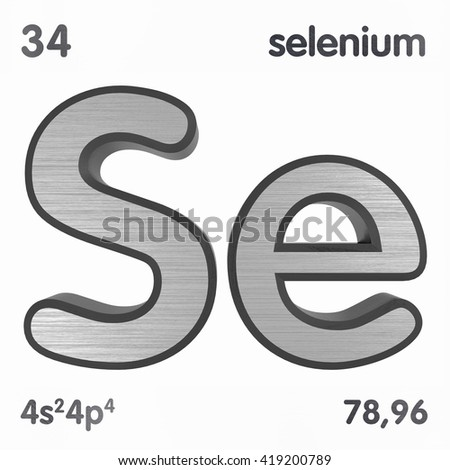 Periodic table elements selenium 3 d title stock illustration periodic table of elements selenium 3d title isolated on white 3d rendering urtaz Gallery
