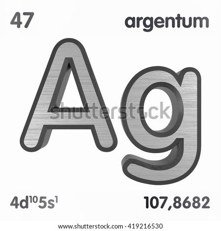 Periodic table elements silver 3 d title stock illustration periodic table of elements silver 3d title isolated on white 3d rendering urtaz Choice Image