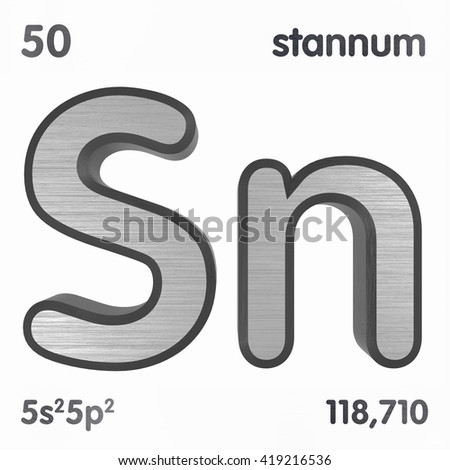 Periodic table elements tin 3d title stock illustration 419216536 periodic table of elements tin 3d title isolated on white 3d rendering urtaz Images