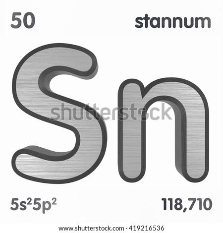 Periodic Table Elements Tin 3 D Title Stock Illustration 419216536