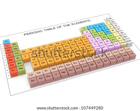 Periodic table elements 3 d stock illustration 107449280 shutterstock periodic table of the elements 3d urtaz Gallery