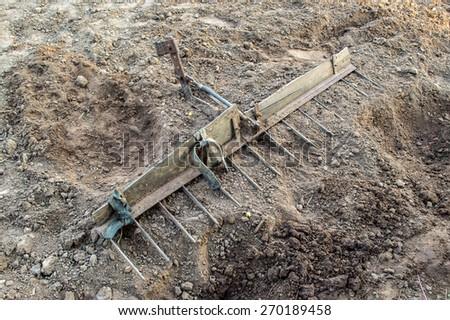 Peripheral tractors - stock photo