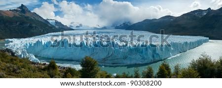 Perito Moreno glacier, El Calafate, patagonia, Argentina. Panorama. - stock photo