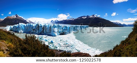 Perito Moreno Glacier, El Calafate, Patagonia, Argentina. South America - stock photo