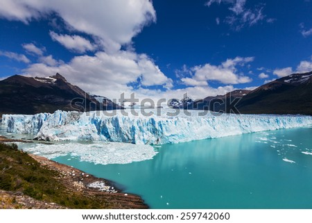 Perito Moreno glacier in  Argentina - stock photo