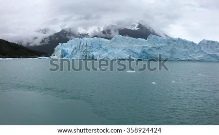 Perito Moreno Glacier in Los Glaciares National Park, Argentina - stock photo